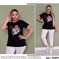 Молодежный брючный костюм женский, футболка со штанами, удобно на каждый день,размеры - 48-50;52-54;56-58 208П