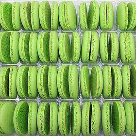 Макаронс напівфабрикат кришечки половинки зелені