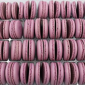 Макаронс напівфабрикат кришечки половинки фіолетові
