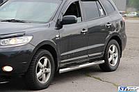 Боковые трубы BB002 (2 шт., нерж.)Hyundai Santa Fe 2 2006-2012 гг.