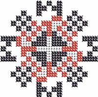 Схема на ткани для вышивания бисером Артём - имя закадированное в вышиванке КМР 7107