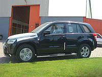 Боковые трубы BB002 (2 шт, нерж)Suzuki Grand Vitara 2005-2014 гг.