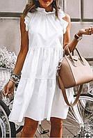 Стильне жіноче плаття-сарафан з євро бенгалина без рукавів(42-46)