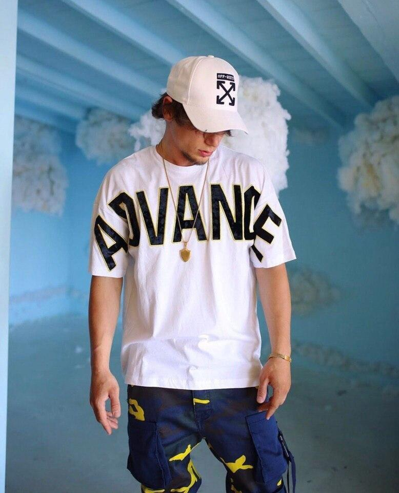 😜 Футболка - Мужская футболка  Advance буквы велюр