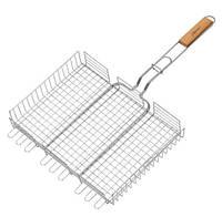 Решетка для гриля на мангал из нержавейки / Решітка для гриля і барбекю на мангал (43*33 см) TORNADO