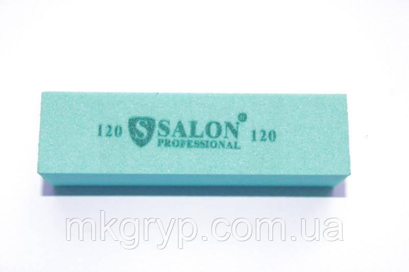 Баф для ногтей Salon Professional 120/120, голубой