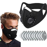 Mногоразовая маска со съёмным фильтром D30 чёрная