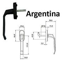 """Ручка пластиковая для окна """"Argentina"""" коричневая"""