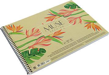 """Альбом для малюв. на пруж. 30арк. A4 """"Muse"""" крафт-картон №PB-SC-030-159/Школярик/(1)(36)"""
