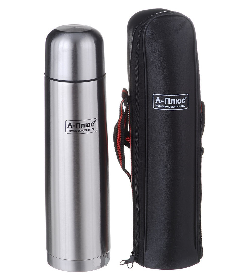 Термос помповый с чехлом 0.75 литра
