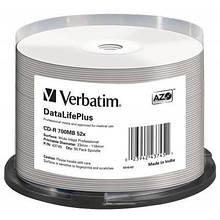 Диск CD Verbatim 700Mb 52x Cake box Printable (43745)