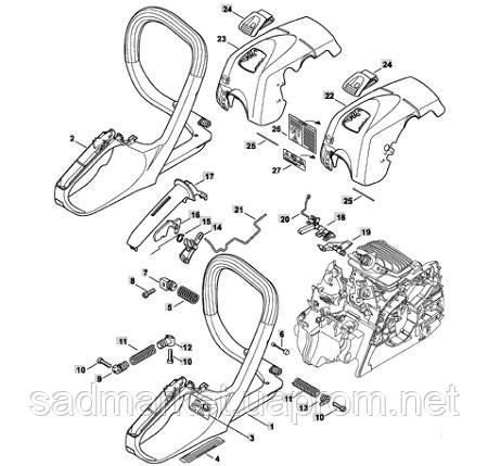 Запасные части к бензопилам STIHL MS 171, MS 181, MS 211