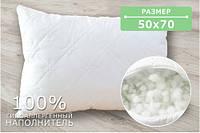 Подушка стеганая, микрофибра+холлофайбер белая
