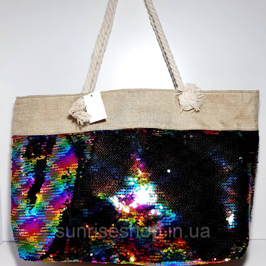 Пляжна текстильна літня сумка