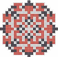 Схема на ткани для вышивания бисером Богдан - имя закадированное в вышиванке КМР 7108