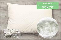 Подушка стеганая, микрофибра+холлофайбер крем