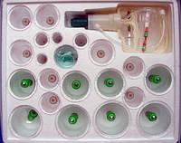 Вакуумные банки, с насосом, KANG CI, в комплекте 24 банки