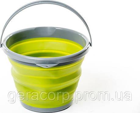 Ведро складное силиконовое Tramp 10L olive, фото 2
