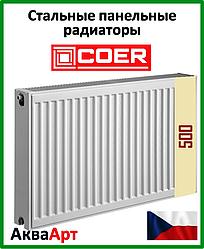 Радиатор стальной Coer 22k 500*500 боковое подключение