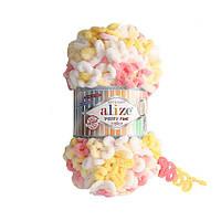 Пряжа Puffy Fine Color 100гр - 14,5м (5942 Разноцветная) Alize