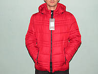 Куртка мужская зимняя молодежная красная