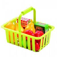 Игровой набор Ecoiffier Корзина для супермаркета с продуктами (000981)