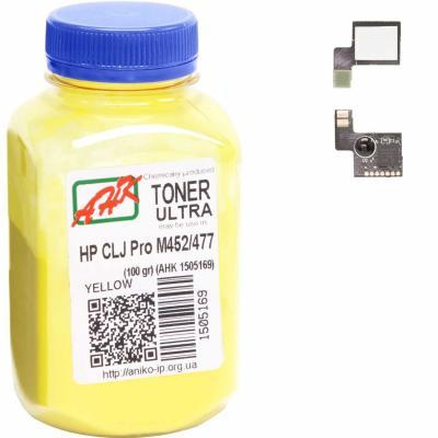 Тонер HP CLJ Pro M452/477 100г Yellow +chip AHK (1505173)