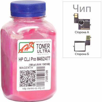 Тонер HP CLJ Pro M452/477 100г Magenta +chip AHK (1505172)