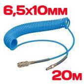 Шланг спиральный полиуретан. 6,5х10мм 20м