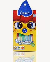 Карандаши цветные пастель масляная 12 цветов, Marco, 1100OP-12CB