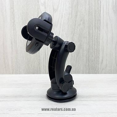 Автомобильный держатель для телефона + беспроводная зарядка Hoco CA35Plus (Black), фото 2