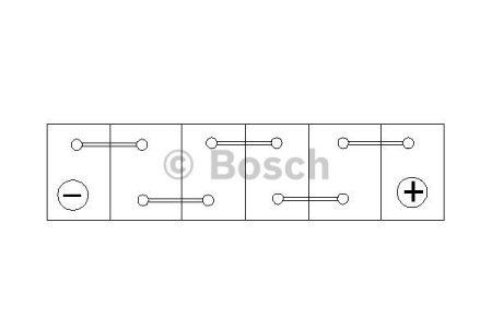 "Audi 80 Аккумулятор Bosch S3 70Ah, EN 640 правый +"" 278 x 175 x 175 (ДхШхВ) BOSCH 0 092 S30 070"""