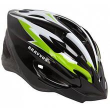 Шлем Velotrade HEL126 черно-бело-салатовый L (HEAD-004)