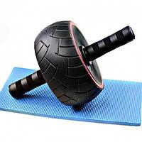 Ролик Тренажер для пресса PROFI Pro Колесо с реверсным механизмом + коврик для коленей