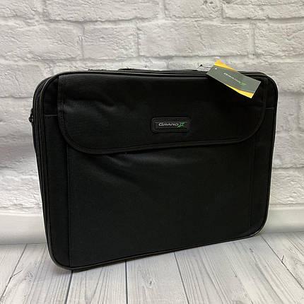 Сумка для ноутбука  GRANDX   темно серая, размер 14.2, фото 2