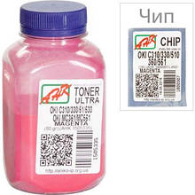 Тонер OKI C310/330/510, 80г Magenta+chip AHK (1505339)