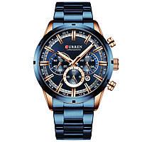 Мужские наручные часы Curren Wild Gold-Navy (8355GNB)