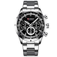 Мужские наручные часы Curren Wild Silver-Black (8355SB)
