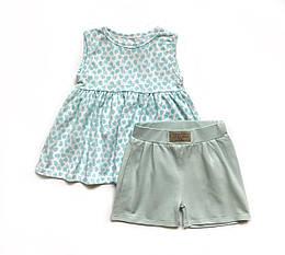Річний комплект для дівчинки Andriana Kids блакитний