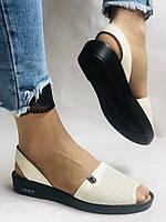Модні босоніжки, білі на низькій платформі.Натуральна шкіра. Магазин .38.40 Vellena, фото 5