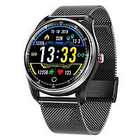 Смарт-часы Smart Watch MX9 с тонометром и ЭКГ Черные (386-1)
