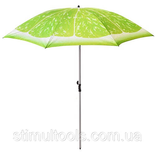 "Зонт Stenson ""Лайм"" пляжный, садовый, наклонный 2 м"