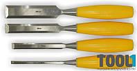 Набор стамесок Sigma 4шт (6,12,18,25мм) пластиковая ручка (4326231)