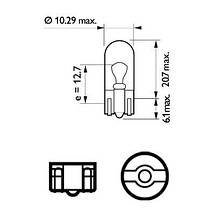 Audi 80 Автомобильная лампа: 12 [В] (к-кт 2шт) W5W Vision 5W цоколь W2,1X9,5d Blister PHILIPS PHI 12961B2, фото 3