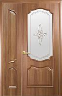 Полуторні двері Рока ПВХ Deluxe Новий стиль, колір вільха золота