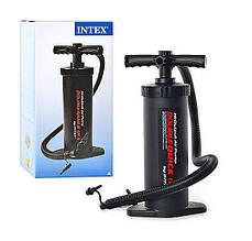 Ручной насос повышенной мощности Intex 68605 для разных моделей надувных кроватей, подушек, кресел, матрасов