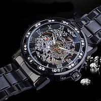 Годинники чоловічі Winner Diamonds W614 Чорні (4231-12861)