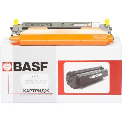 Картридж BASF для Samsung CLP-320/320N/325/CLX-3185 Yellow (KT-CLTY407S)