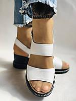 Модні босоніжки, білі на невисокій платформі.Натуральна шкіра. Розмір 37.38,39.40.Туреччина. Магазин Vellena, фото 5