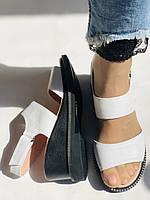 Модные босоножки, белые на невысокой платформе.Натуральная кожа. Размер 37.Турция. Магазин Vellena, фото 6